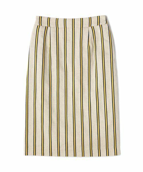 N.(N. Natural Beauty Basic)の麻ストライプタイトスカート