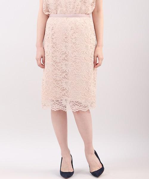 Clear Impressionの総フラワーレースタイトスカート