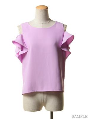 芸能人がカイモノラボで着用した衣装ピンクトップス