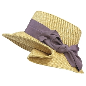 芸能人がとんねるず×さまぁ~ず一文無しジャーニー2×2で着用した衣装紫のリボンの麦わら帽子