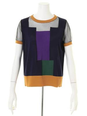 UN3D.のCOLOR BLOCK KT TOP