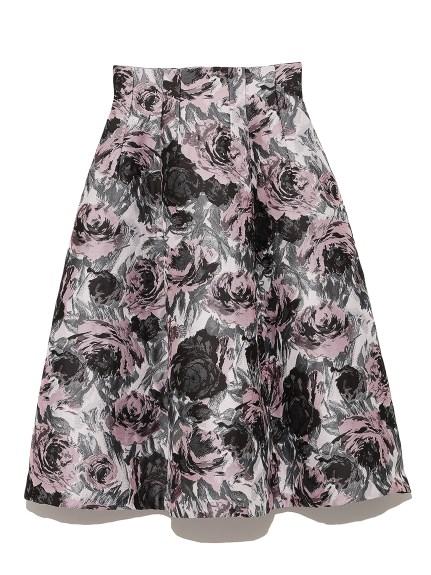 CELFORDのジャガードフレアスカート