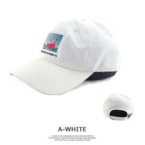 SUNY PLACEのフォトプリントキャップ A-WHITE フラミンゴ
