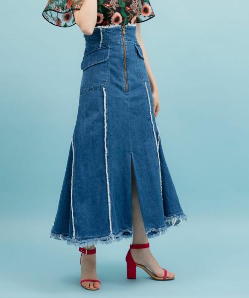 UNITED TOKYOのラッパフレアデニムスカート