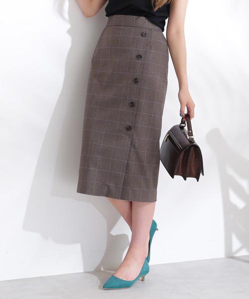 N.(N. Natural Beauty Basic)のサイド釦タイトスカート