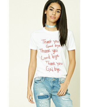 FOREVER21のThank You Goodbye Tee
