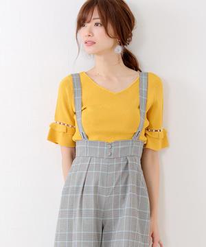 芸能人春日ゆり子・看護師、彼氏がヒモがヒモメンで着用した衣装黄色のトップス