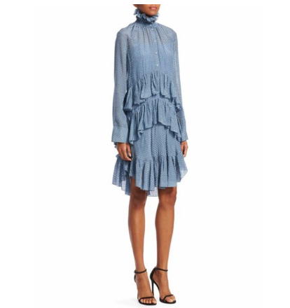CARVENのCeladon Ruffle Shirtdress Dress