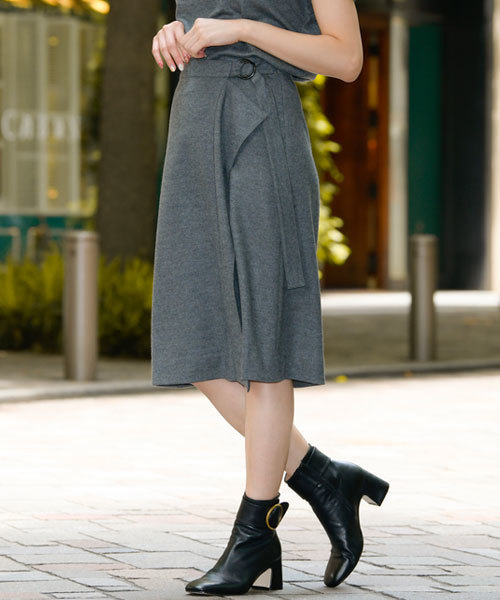 EPOCA THE SHOPのウールジャージーラップスカート