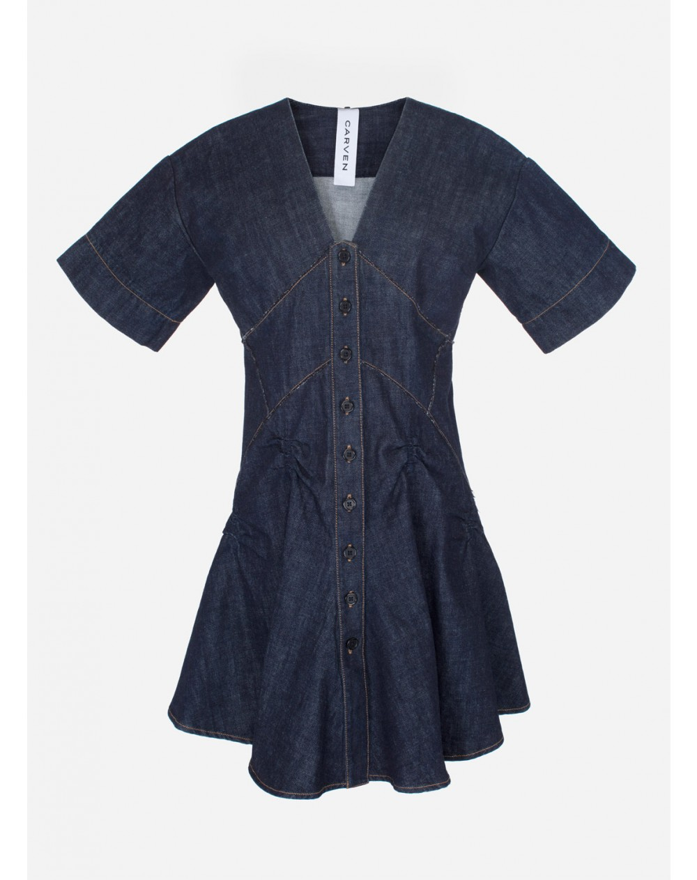 CARVENのDENIM MINI DRESS