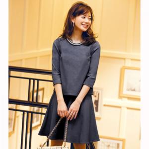 芸能人がニュースブリッジ北九州で着用した衣装ワンピース