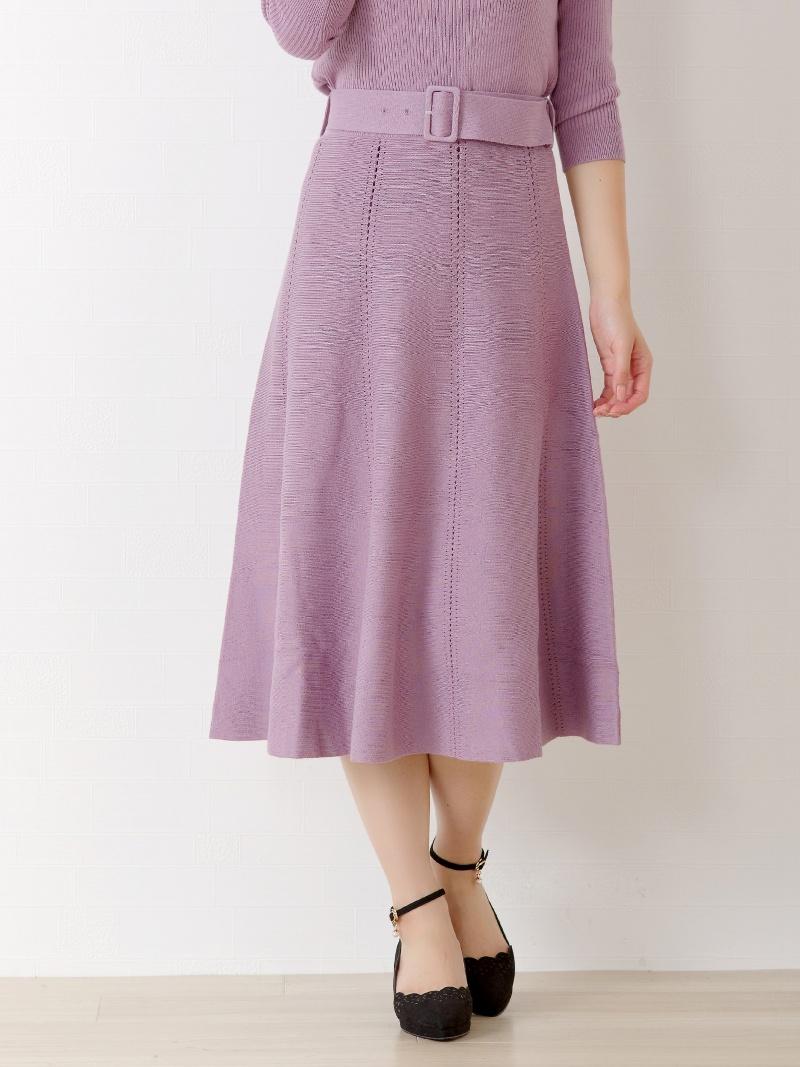MISCH MASCHのアイレット透かしフレアースカート