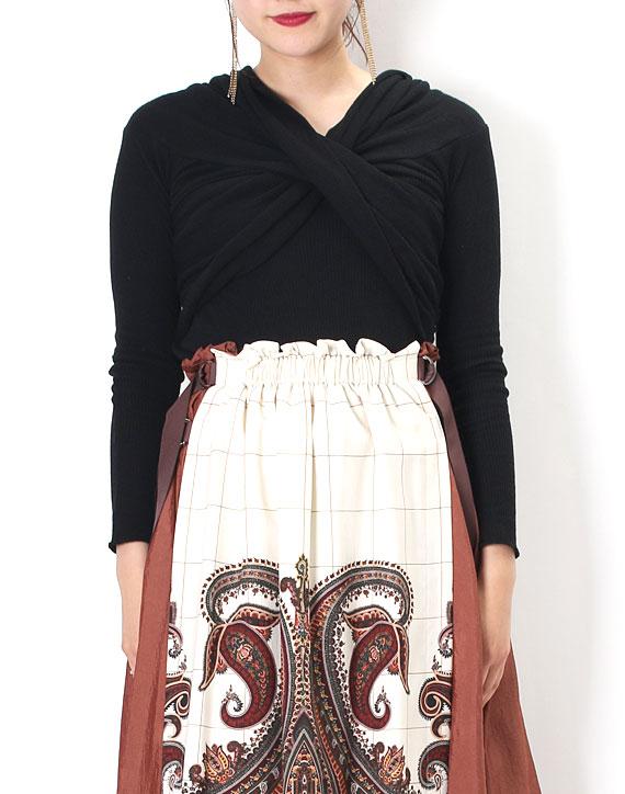 芸能人がA-Studioで着用した衣装カットソー、スカート、カーディガン