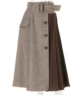 Apuweiser-richeのサイドプリーツトレンチスカート