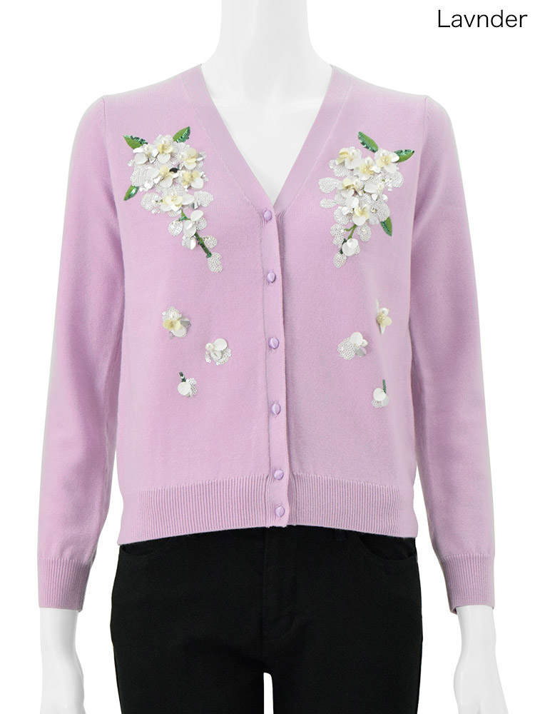 ChestyのFlower Motif Cardigan
