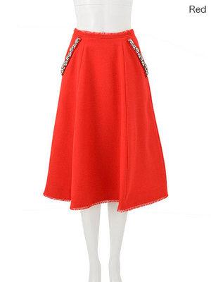 芸能人がジップで着用した衣装カットソー/スカート