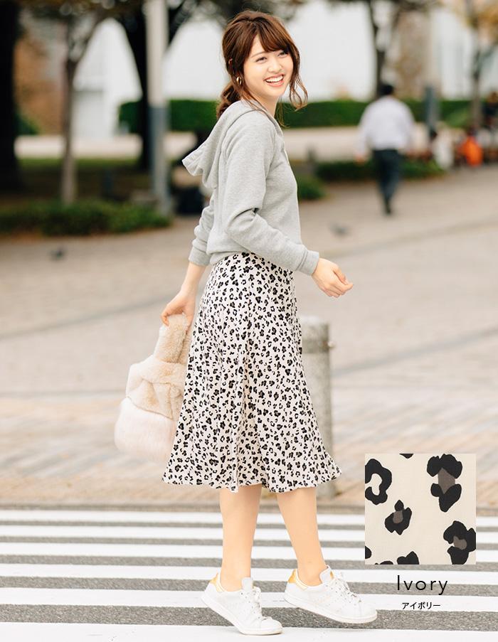 FEERICHELUのレオパード フレア スカート