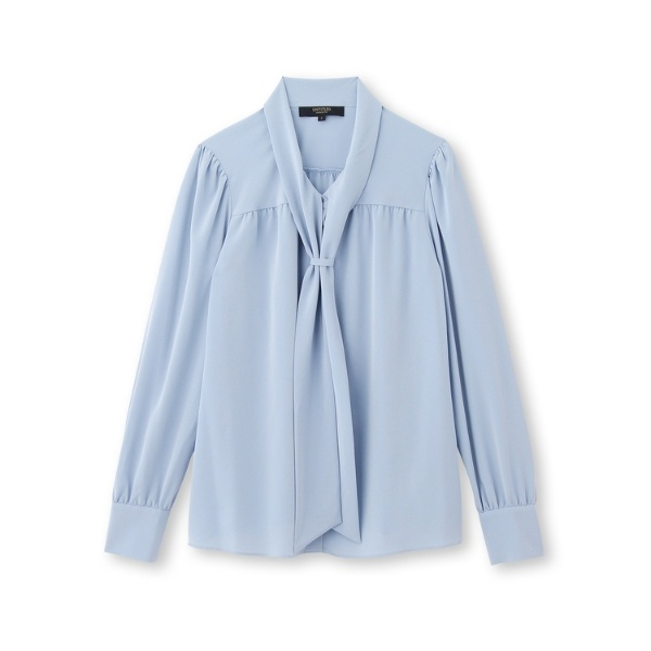 UNTITLEDのデシン・スカーフシャツ