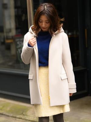 芸能人が正直さんぽで生野陽子さんで着用した衣装コート