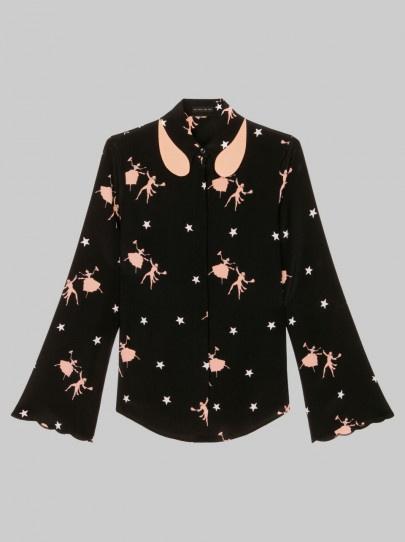 ETROのDancers-print silk shirt