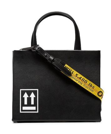 OFF-WHITEのBox small printed leather tote