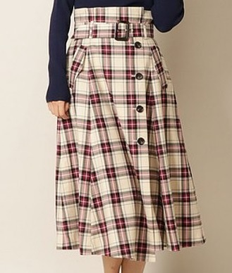 And CoutureのCheck skirt