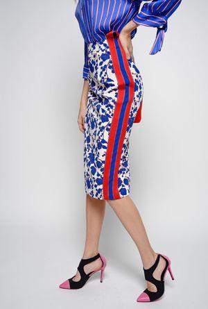 PINKOのラズベリープリント テクニカル キャディ スカート