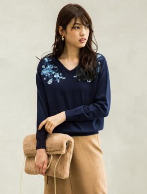 芸能人がニュースブリッジ北九州で着用した衣装ニット
