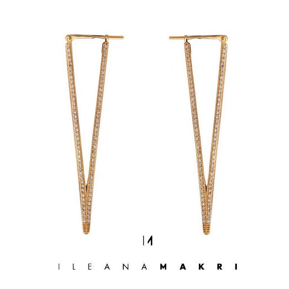 ILEANA MAKRIのBermuda Triangle Earrings