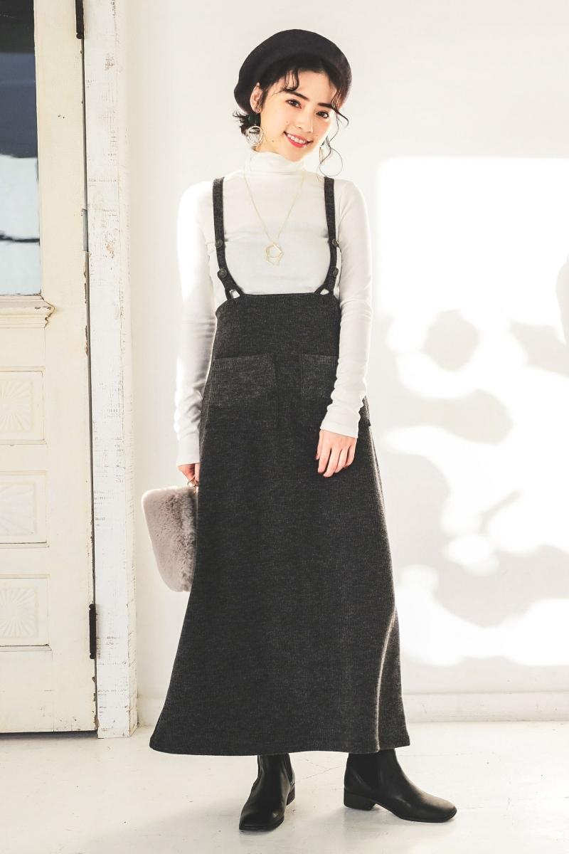 芸能人がメレンゲの気持ちで着用した衣装スカート、ビスチェ、カットソー