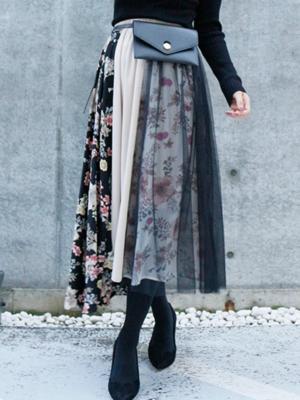 芸能人が女神のマルシェで着用した衣装スカート