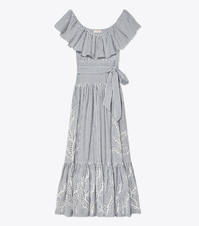 Tory BurchのEYELET EMBROIDERED DRESS