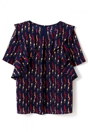 芸能人大島優子がウーマン・オン・ザ・プラネットで着用した衣装シャツ / ブラウス