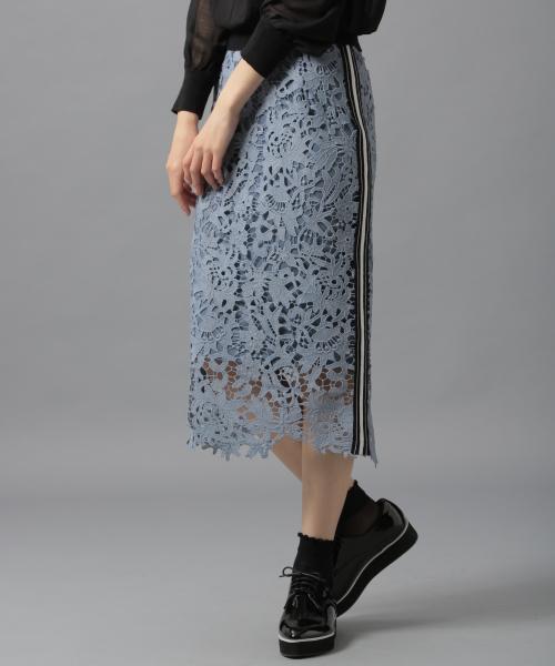Andemiuの【WEB限定】サイドラインレーススカート
