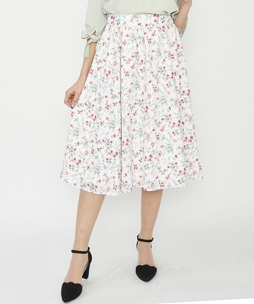 PATTERN fionaの花柄ミモレスカート