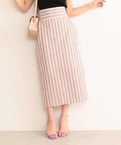 N.(N. Natural Beauty Basic)の麻タイトマキシスカート