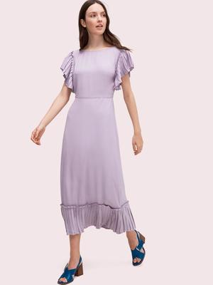 kate spade new yorkのpleated crepe dress
