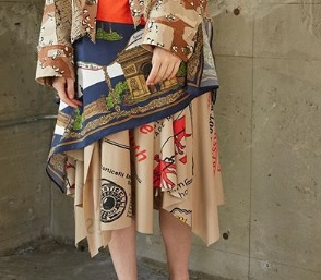 芸能人が行列のできる法律相談所で着用した衣装スカート、アウター