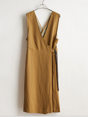 STELLA CIFFONのTRIACETATE & LINEN TWILL DRESS