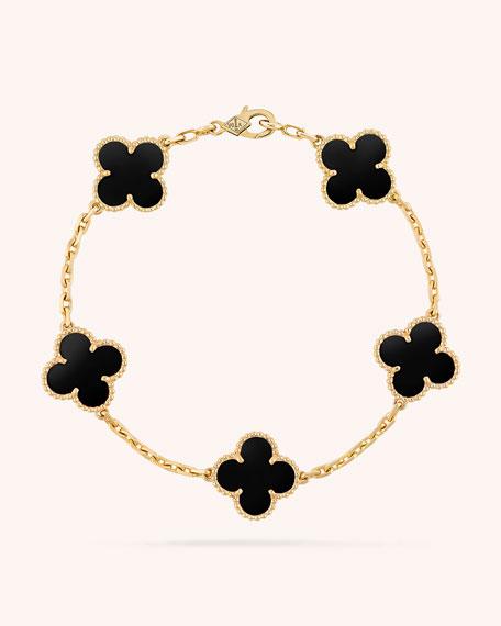 Van Cleef & ArpelsのVintage Alhambra Bracelet, 5 Motifs
