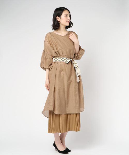 芸能人が世界一受けたい授業で着用した衣装ワンピース、ジュエリー