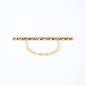 HirotakaのDiamond Bar U Shape Ring (Long)