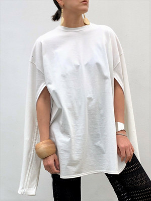 MediamのSleeve Open Long Tee