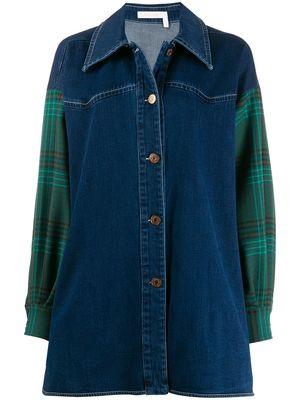 芸能人が行列のできる法律相談所で着用した衣装デニムのシャツ?ジャケット