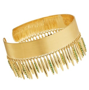 ileana makriのGRASS LEAVES BANGLE Y-EM
