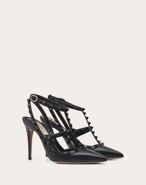 VALENTINOのROCKSTUD ANKLE STRAP PUMP WITH TONAL STUDS 100 MM