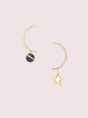 kate spade new yorkのon the rocks asymmetrical earrings
