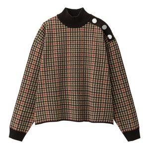 芸能人が?で着用した衣装チェックセーター