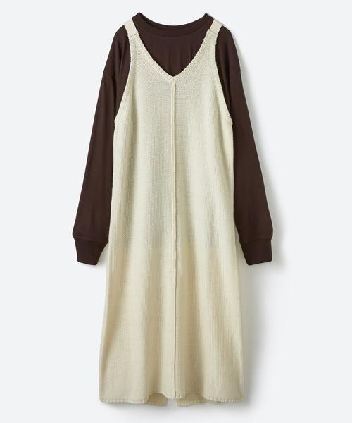 芸能人がメレンゲの気持ちで着用した衣装ワンピース、カットソー、パンツ