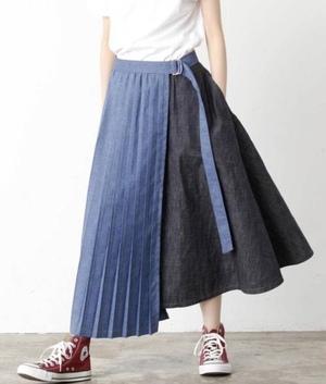 芸能人が教えてもらう前と後で着用した衣装スカート、ブラウス